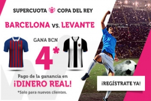 Wanabet: Barça @4.0 vs. Levante + 200€