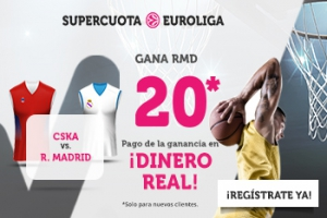 Wanabet: CSKA Moscú vs. Real Madrid @20.0 + 200€