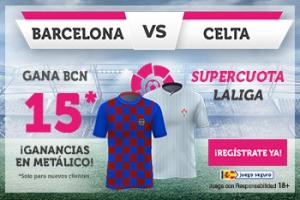 Wanabet: FC Barcelona @15.0 vs. Celta Vigo + 100€