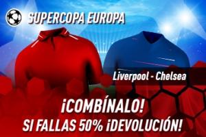 Sportium: Liverpool vs. Chelsea. Combina y si fallas te devolvemos el 50%