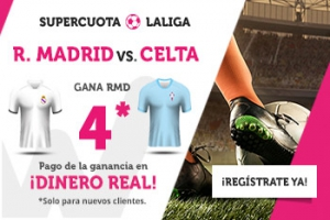 Wanabet: Real Madrid @4.0 vs. Celta + 200€