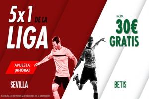 Suertia: Sevilla vs. Betis. Haz tu apuesta y llévate hasta 30€ GRATIS