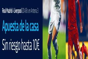 William Hill: Final Champions. Madrid vs. Liverpool. Apuesta de la casa