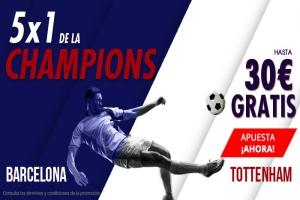Suertia: Barça vs. Tottenham. Apuesta y llévate hasta 30€ GRATIS
