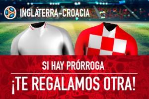 Sportium: Inglaterra vs. Croacia. Si hay prórroga ¡Devolución!