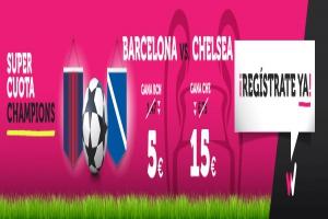 Wanabet: ¿Barça @5.0 vs. Chelsea @15.0? + 200€