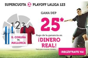 Wanabet: Deportivo vs. Mallorca @25.0 + 100€