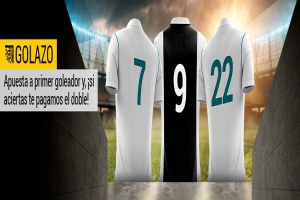 Bwin: Apuesta a 'Primer Goleador' y llévate el DOBLE (Real Madrid vs. At. Madrid)
