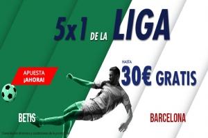 Suertia: Betis vs. Barça. Haz tu apuesta y llévate hasta 30€ GRATIS