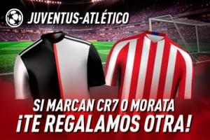 Sportium: Juventus – At. Madrid. Si marcan CR7 o Morata¡Te damos otra!