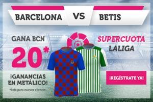 Wanabet: FC Barcelona @20.0 vs Real Betis + 100€