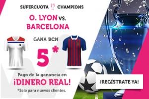 Wanabet: Lyon vs. Barça @5.0 + 200€