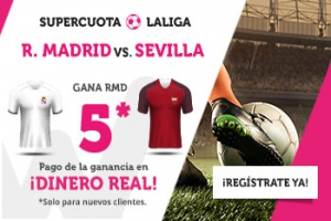 Wanabet: Real Madrid @5.0 vs. Sevilla + 200€