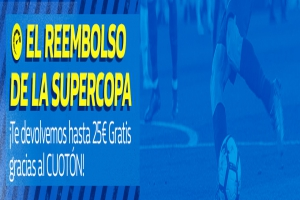 William Hill: Supercopa Europa. R. Madrid vs. At. Madrid. Devolución de hasta 25€
