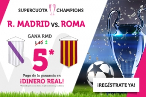 Wanabet: R. Madrid @5.0 vs. Roma + 200€