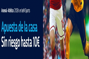 William Hill: Arsenal vs. At. Madrid. Apuesta de la casa