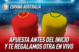 Sportium: España vs. Australia. Haz una apuesta y te regalamos otra