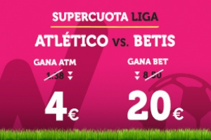 Wanabet: ¿At. Madrid 4.0 vs. Betis 20.0? + 200€
