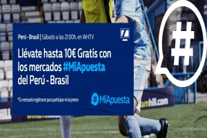 William Hill: Perú - Brasil. #MiApuesta Llévate 10€ GRATIS