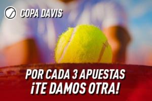 Sportium: Copa Davis. Por cada 3 apuestas, te damos otra ¡GRATIS!