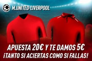 Sportium: Man. United vs. Liverpool. Haz tú apuesta y te damos 5€ ¡¡¡GRATIS!!!
