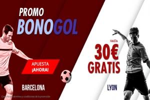 Suertia: Barça vs. Lyon. Haz tu apuesta y llévate hasta 30€ GRATIS
