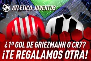 Sportium: At. Madrid vs. Juventus. Si Griezmann o CR7 marcan el 1.º gol ¡Devolución!