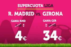 Wanabet: ¿Madrid @4.0 vs. Girona @34.0? + 200€