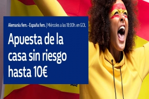 William Hill: Alemania vs, España. Hasta 10€ sin riesgo