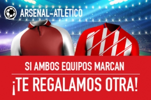 Sportium: Arsenal vs. At. Madrid. Si fallas y ambos marcan... ¡Devolución!