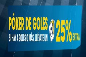 William Hill: Poker de goles. Gana un 25% más en tus apuestas de la final de Champions