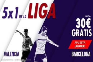 Suertia: Valencia vs. Barça. Apuesta y llévate hasta 30€ GRATIS