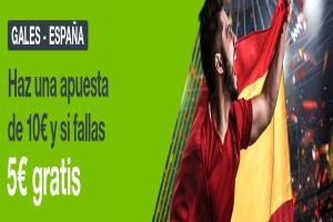 Codere: Gales vs. España. Haz tu apuesta y llévate 5€ GRATIS