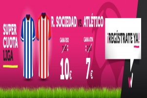 Wanabet: ¿Real Sociedad @10.0 vs. At. Madrid @7.0? + 200€