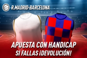 Sportium: Real Madrid vs. FC Barcelona. Si fallas 50% DEVOLUCIÓN