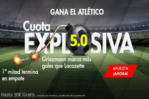 Suertia: Arsenal vs At. Madrid. Cuota EXPLOSIVA @5.0