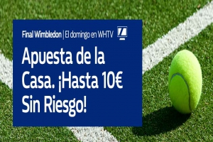 William Hill: Novak Djokovic vs. Roger Federer. Hasta 10€ sin riesgo