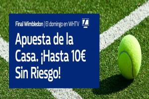 William Hill: Novak Djokovic vs. Roger Federer. Hasta 10€ sin riesgo