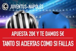 Sportium: Juventus vs. Nápoles. Apuesta y te damos 5€ ¡¡¡GRATIS!!!