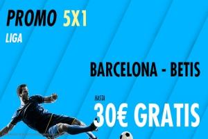 Suertia: FC Barcelona - Rel Betis. Haz tu apuesta y llévate hasta 30€ GRATIS