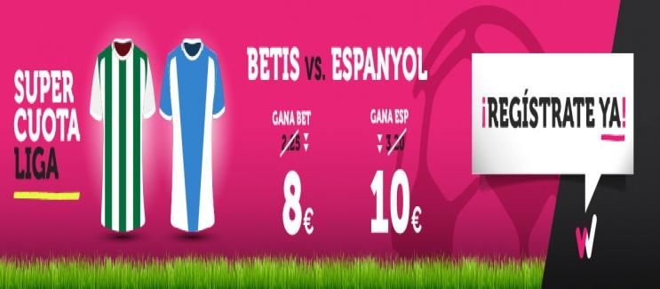 Wanabet: ¿Betis @8.0 vs. Espanyol @10.0? + 200€