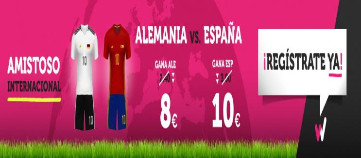 Wanabet: ¿Alemania @8.0 vs. España @10.0? + 200€