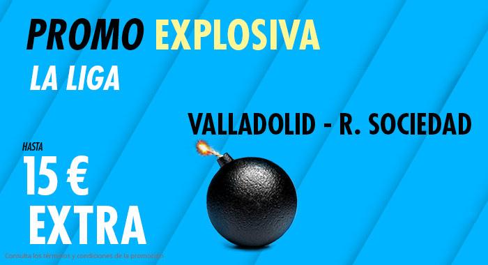 Suertia: Valladolid - Real Sociedad. Llévate 15€ EXTRA con tu apuesta