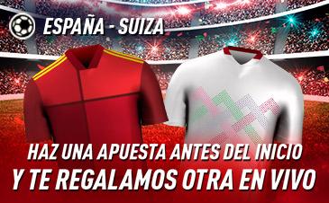 Sportium: España - Suiza. Haz una apuesta y te regalamos otra en vivo