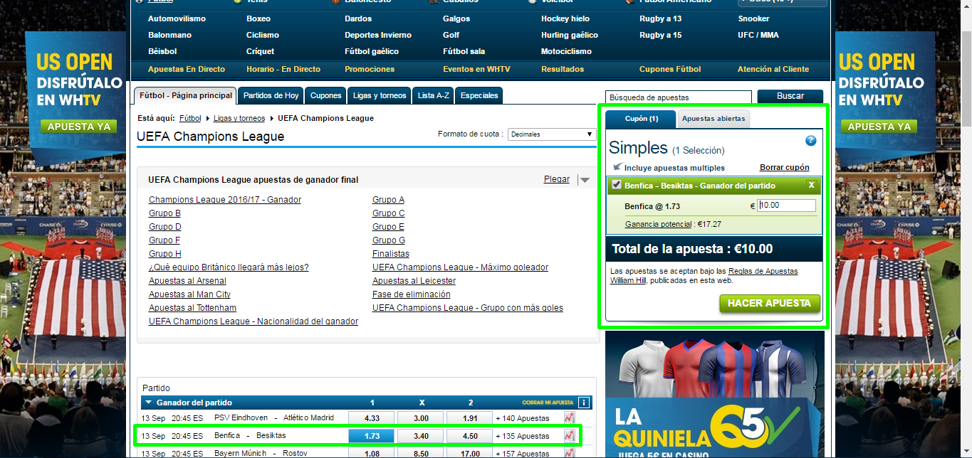 Cómo registrarse en William Hill - Paso 5
