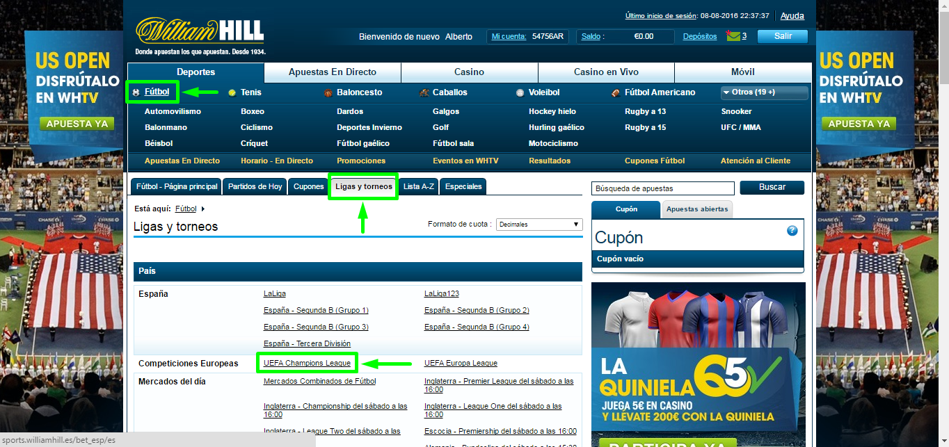Cómo registrarse en William Hill - Paso 4